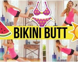 Swimsuit Slimdown – 8 min bikini butt workout!